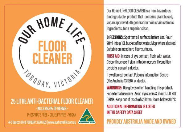 Floor Cleaner 25 L drum label